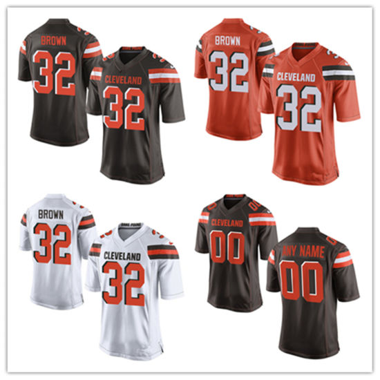 new style 94319 8f4cc China Men Women Youth Browns Jerseys 32 Jim Brown Football ...