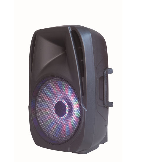 Live Concert 15 Inch Wireless USB FM PRO LED Mic Portable DJ Bluetooth Audio Loud Speaker
