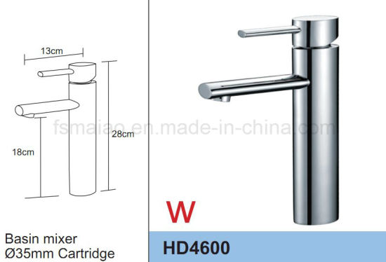 Round Brass Chrome Singel Lever Basin Faucet Sanitary Wares (HD4600) pictures & photos