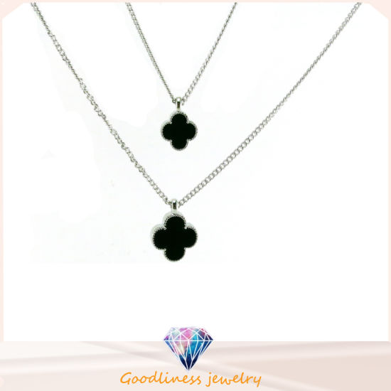 China good quality 925 sterling silver clover black agate pendant good quality 925 sterling silver clover black agate pendant necklace wholesale n6696 aloadofball Images