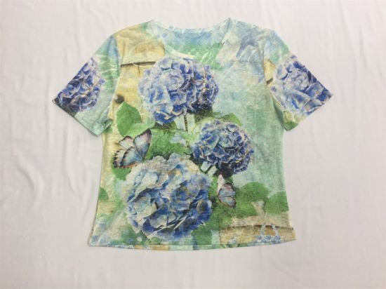 Sublimation Embroidery Print Slim Customized T-Shirts pictures & photos