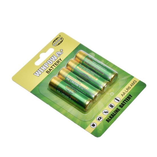1.5V Alkaline AA Dry Battery 4 Packs (LR6) pictures & photos