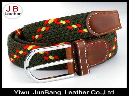 Woven Elastic Cotton Canvas Leather Stretch Blet