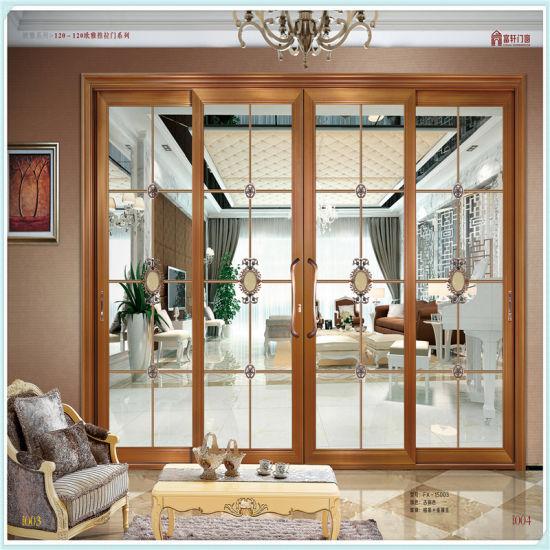 Cheap Price Aluminium Sliding Wooden Doors For Kenya