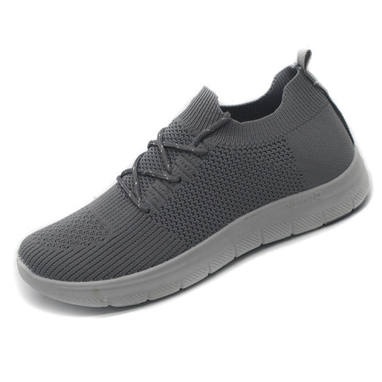 Lace up Knitted Casual Shoes, Ladies Footwear with Light Weight