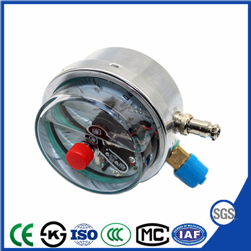 Electric Contact Shock Resistant Pressure Gauge Manometer With Ce Roved