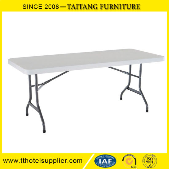 Chinese Factory Price Retangle Plastic Foldabe Table for Wedding and Event pictures & photos
