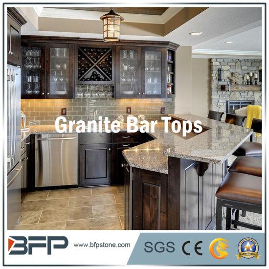 Granite/Marble/Quartz Stone Tops For Bar/Bathroom/Kitchen With Eased Edge  Treatment