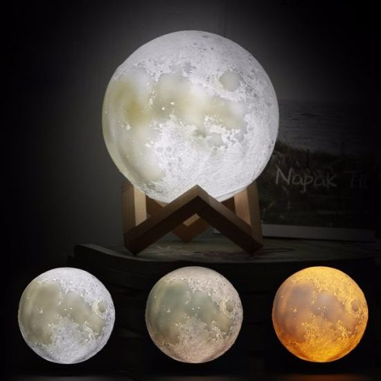 Light Rgb China Colors Rechargeable Moon Lamps 16 Printing 3d Led sxtQBChdr