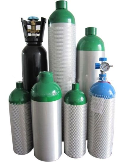 ISO7866 Standard High Pressure 40L Aluminum O2 Gas Cylinders pictures & photos