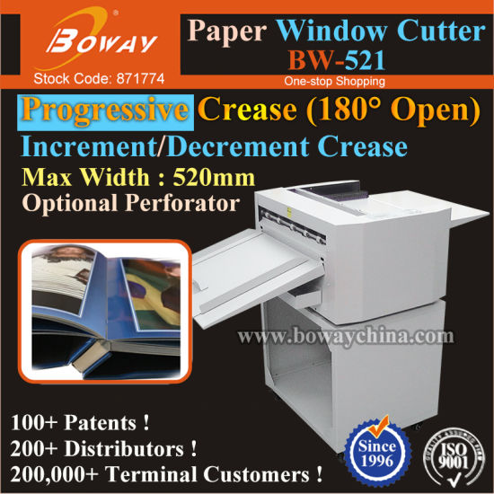 Layflat Photo Book Spine Paper Progressive Creasing Cutting Punching Machine Window Cutter pictures & photos