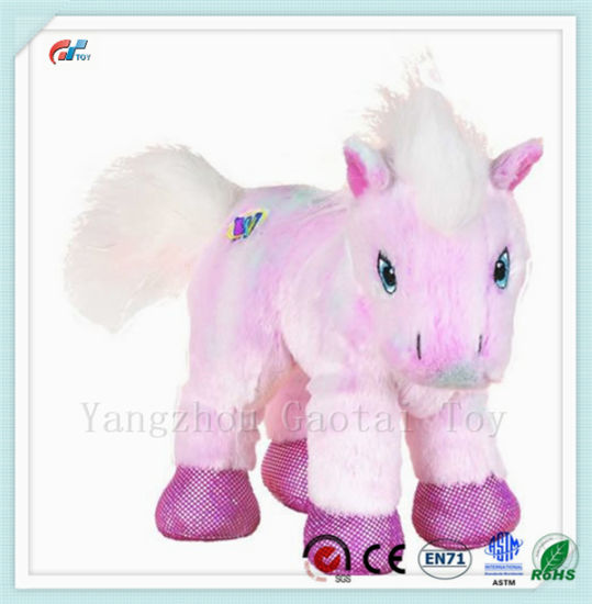 Hot Sale Cute Pink Pony Plush Toy Stuffed Horse Animal
