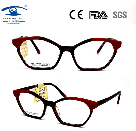 Fashion Limination Acetate Eyeglasses Optical Frame for Woman pictures & photos