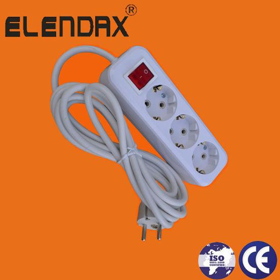 China European Power Socket Three Way Socket (E8003ES) - China Power ...