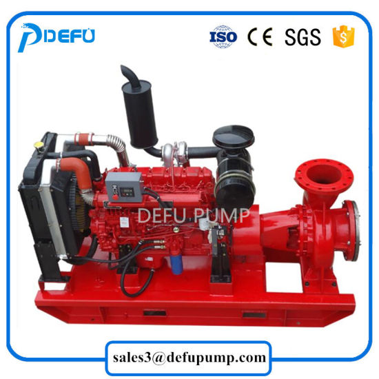 China Fire Pump Manufacturer Engine Driven Diesel Fire Fighting Pump UL  Listed 750gpm