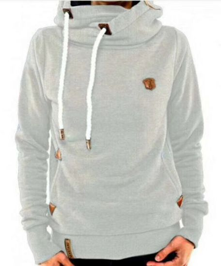 100%Polyester for Women Hoodies with Logo. Big Stocks in Hands pictures & photos