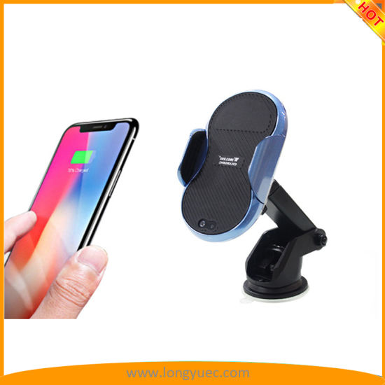 Wireless Car Charger & Automatic Induction Car Mount Phone Holder Cradle  Charging for iPhone 8/ 8 Plus/ X Samsung Galaxy Note 8/ S8/ S8+/ S7/ S6  Edge+