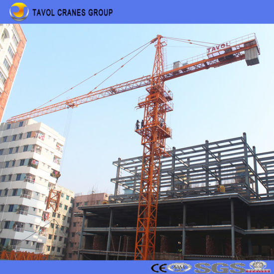 Tavol Brand Tower Crane for Construction, China Self Erecting Tower Crane pictures & photos