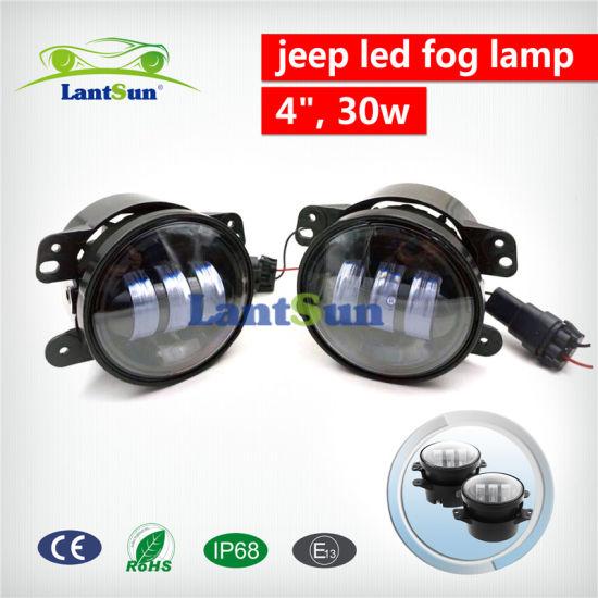 4'' 30W Round LED Fog Light for Jeep Wrangler