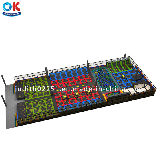 Professional Customized Indoor Amusement Bungee Jumping Trampoline Park