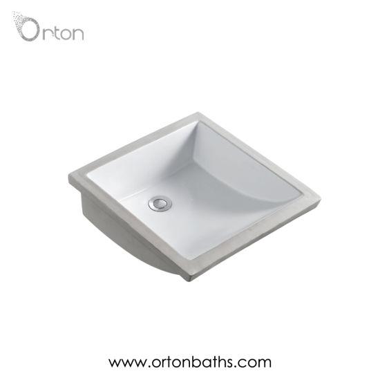 China Bathroom Square Undermount Sink Wash
