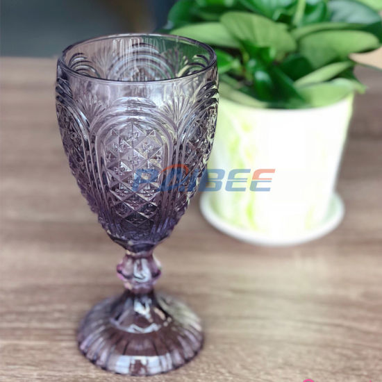 Glass Cup Solid Wine Glasses Wedding Glassware Low MOQ Event Rental Glass Goblet pictures & photos