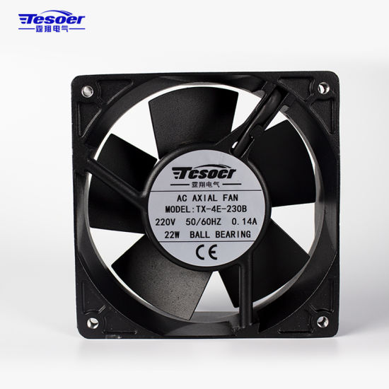 120X120X38mm AC Axial Solar Air Conditioner Cooling Fan with Metal Blade Made in China (TX-4E)