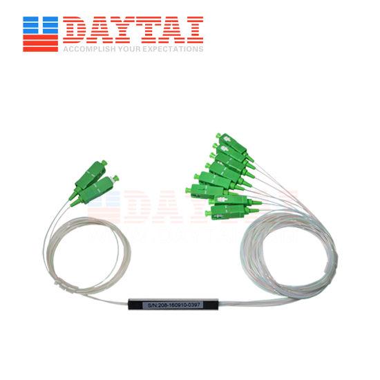 PLC Manufacture Optical Fiber Splitter Single Mode 2X8 PLC Splitter