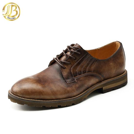 Handmade Shoes Lace up Genuine Leather Shoes Man Dress Shoe Custom Brand