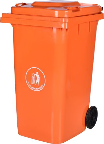 240L Outdoor Plastic Garbage Bin Wheel