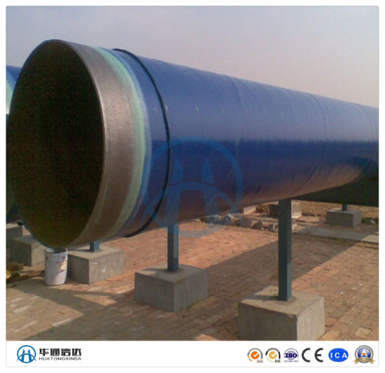 Large Diameter PE Coated Fbe Painted Spiral Anti-Corrosivesteel Pipe for Waste Water Drainage Pipeline Anti Corrosion Pipe