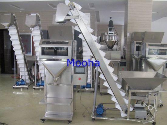 Semi Automatic Granule Pesticides Fertilizer Weigher Filling Packaging Machine