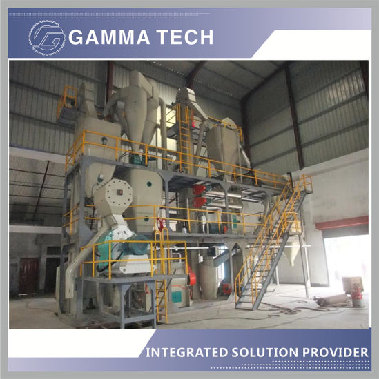 3-5tph Poultry Eqipment /Animal Pellet Mill Machine with Hammer Mill/Mixer/Cooler in China