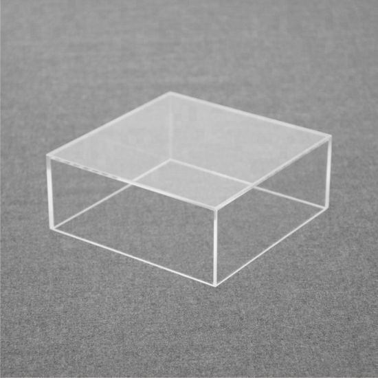 Square Clear Acrylic Wedding Cake Stand Cake Shop Display Rack