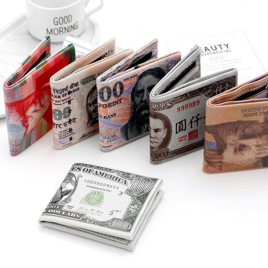 Creative Short Printing Patterns National Money Patterns PU Wallet