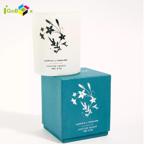 Custom Candle Paper Box with Lid and Base Paper Candle Box Packaging Rigid