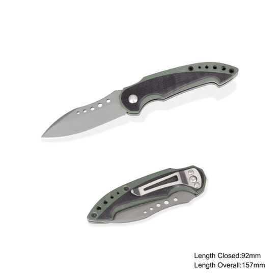 Folding Knife with G10 Handle (#3900-515)