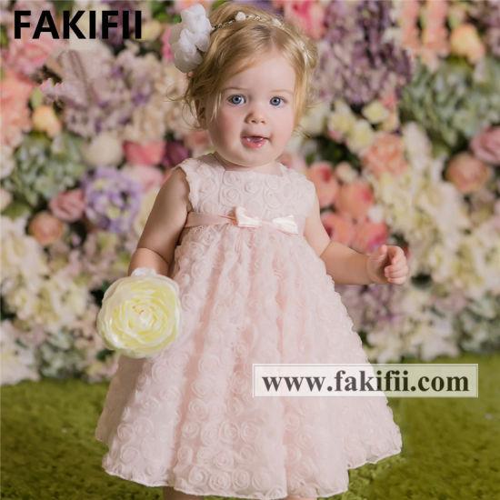Fakifii Brand OEM Spring Summer Wholesale Fashion Baby Party Kids Wear Dress for Flower Girl