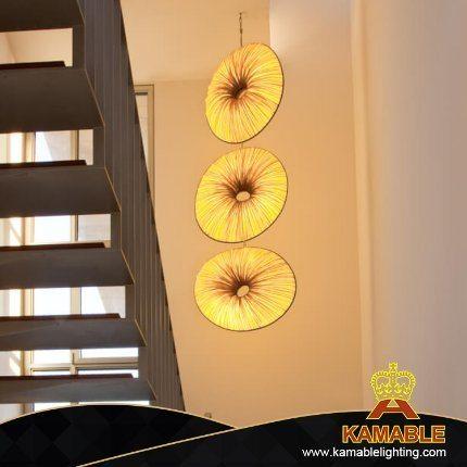 Modern Style Circular Flower Art Stair Decoration Pendant Light (KACH14)