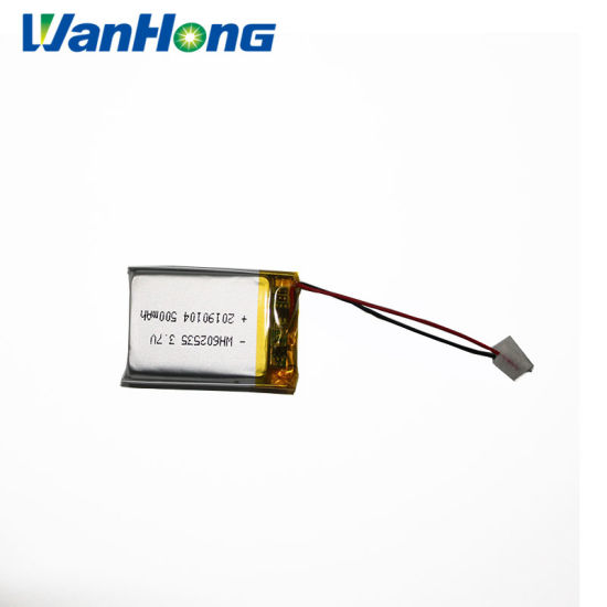 Lithium Ion Battery 602535pl 500mAh/Li-ion Battery 3.7V Li-Polymer Battery/Li Ion Battery/Rechargeable Battery/Li Ion Battery/Battery Pack for MP3/4