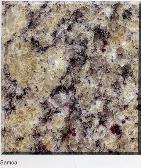 Samoa Color Polished Granite for Slab/Tile/Stairs/Sinks pictures & photos