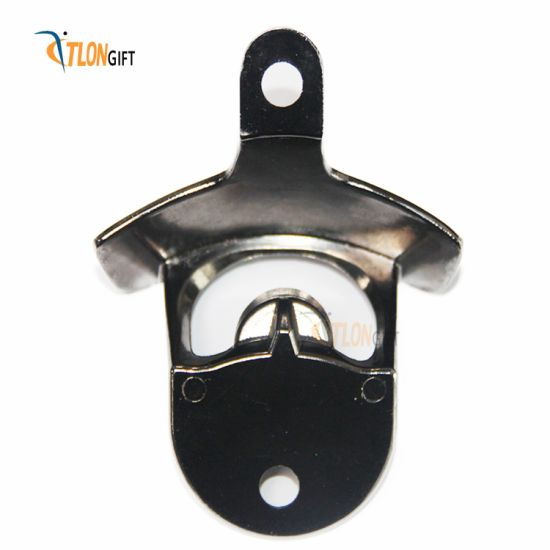 Fashionable Zinc Alloy Empty Platinum Wall Bottle Opener with Custom Logo