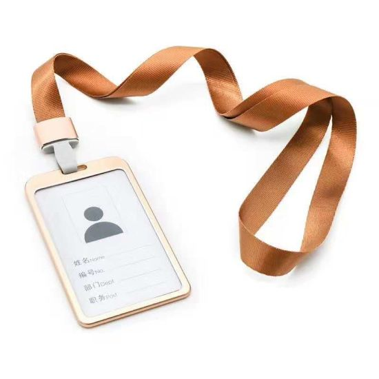 Wholesale Colorful Metal Alloy Aluminum Work Name Card ID Badge Holder