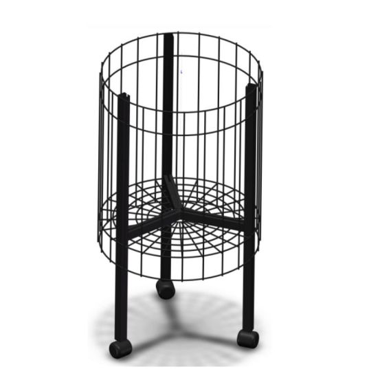 Metal Display Rack Round Stand Dump Bin Movable by Casters pictures & photos