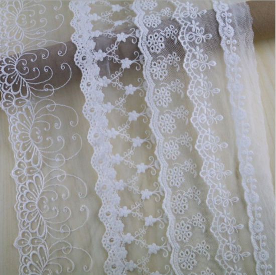 2019 Custom White High Quality Design French Lace Fabric