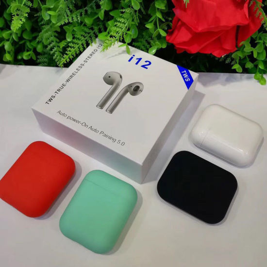 Original I12 Tws 1: 1 Airpod Bluetooth 5 0 Wireless Pods 3D Sound iPhone  Earphone for Earpods