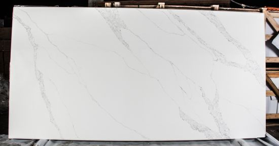 SF-V1160 Bianco Bella Engineered Quartz Slabs for Floor Wall