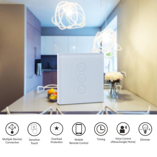 EU Standard Smart WiFi Touch Dimmer Switch Works with Amazon Alex