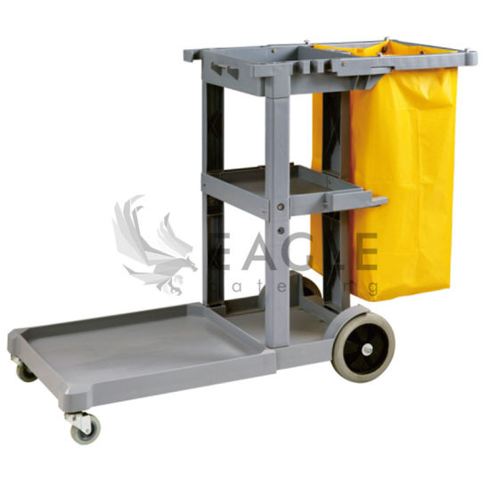 Plastic Catering Janitorial Cleaning Cart pictures & photos