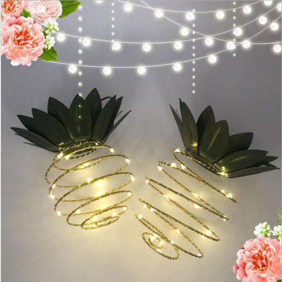 China Set of 2 Pineapple Solar Garden Lights, 25 LED Lights for ...
